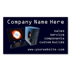 2 Computer Store Business Cards