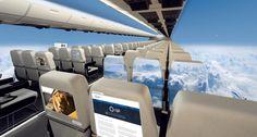 TrendsNow | Aerospace Windowless Aircraft ou comment des panneaux intérieurs et des hublots sont remplacés par des écrans OLED géants HD #digital