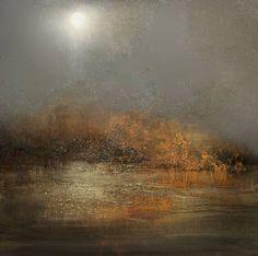 "Saatchi Art Artist Maurice Sapiro; Painting, ""Moon Rising"" #art"