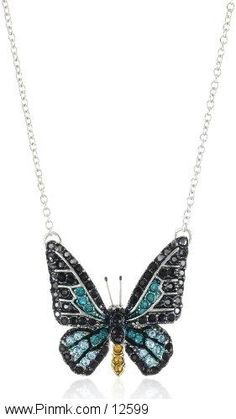 """Andrew Hamilton Crawford """"Sparkling"""" Butterfly Necklace   $69.99"""