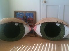Styrocarve- These were two eyes that I carved in Styrofoam for a ministry prop for the church. The also had a nose ear and mouth.