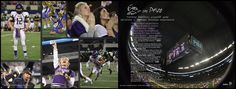 Football playoff spread for horizontal yearbook. Timber Creek High School, Fort Worth, Texas