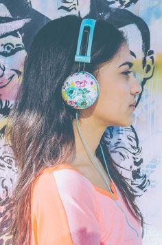 Pastel Floral Headphones