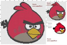 Schematic cross stitch Angry Birds Red Bird 100x100 50x50 6 colori.jpg (1.84 MB) Viewed 426 times