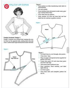 Baby Sewing Projects, Sewing Tutorials, Dress Sewing Patterns, Clothing Patterns, Sewing Blouses, Sewing Studio, Pattern Cutting, Pattern Drafting, Fashion Sewing