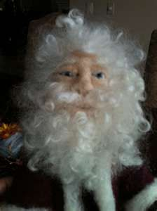 Needle Felted Santa Doll