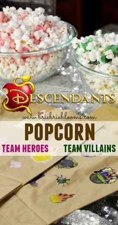 Add some fun to watching new Disney Descendants with a Team Heroes and Team Villains Descendants popcorn! Which team treat will you choose?
