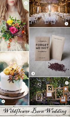 Rustic wedding inspiration for decorations, bouquet, cake, and favors.  #fallrustic #fallweddings