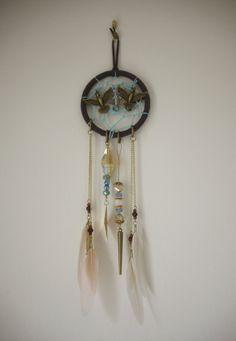 Bird of Prey Car Mirror Dreamcatcher by SheridanRochelle on Etsy, $35.00