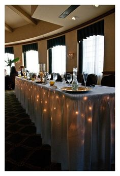 WE NEED LIGHTS UNDER THE TABLES THAT WOULD LOOK SO MAGICAL!!!!
