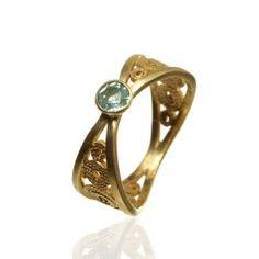 Filigree Gold Ring - Marta Samborska