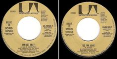 "Billie Jo Speers / I'm Not Easy (1977) / United Artists UA-XW935-Y (Single, 7"") #1970s"
