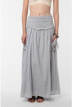 Staring at Stars Gauze Pocketed Maxi Skirt - StyleSays