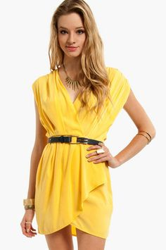 New Colors on the Block Belted Dress $33 at www.tobi.com