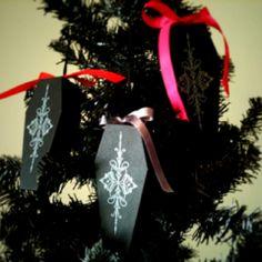Coffin ornaments #coffin #halloween #ornaments