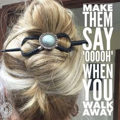 """Beautiful hair up-do! Leave everyone saying, """"WOW!"""" When you walk away!   Lilla Rose hair products are patented, beautiful, hair accessories for all hair types & lengths!"""