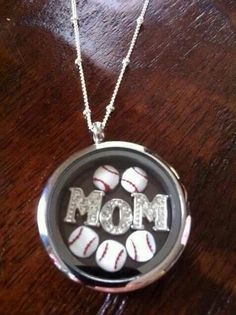 Baseball~ Mom necklace