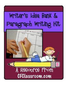 WRITER'S IDEA BANK & PARAGRAPH WRITING KIT grades 1-5