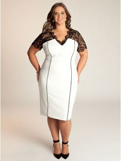 Denise Plus Size Dress in Ivory by IGIGI     I would love this in a different color. I know I'd be all spotted and stained in 5 minutes in white.