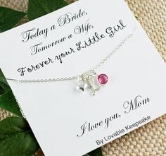 Today a Bride Tomorrow a Wife Forever Our by LovableKeepsake