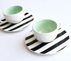 Stripe-Tastic Tea Set