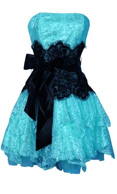 Strapless Bustier Contrast Lace and Crinoline Ruffle Prom Mini Dress | Prom Short Dresses | $97