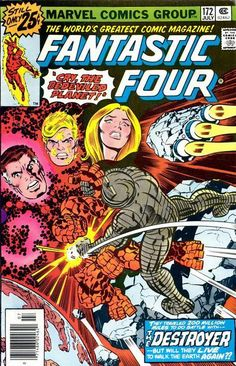 """Fantastic Four #172, """"Cry, The Bedeviled Planet!"""", Galactus, Destroyer, Art: Jack Kirby"""