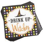 """Drink Up Witches"" Cocktail Napkins - Don't know why but this makes me laugh."