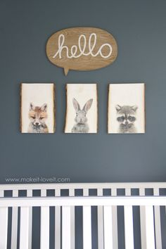 How to transfer PHOTOS onto WOOD (...for our nursery decor)!! | Make It and Love It