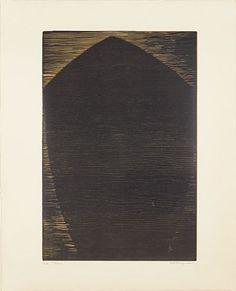 "Anna-Eva Bergman, tresnitt ""baug"", 1968 Printmaking, Anna, Artist, Prints, Abstract Backgrounds, Artists, Printing"