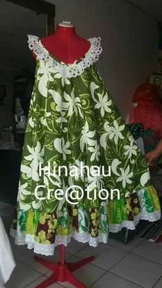 Hinahau Cré@tion (Tahiti) Plus Size Formal, Simple Dresses, Types Of Fashion Styles, Night Gown, Dress Patterns, African Fashion, Baby Dress, Fashion Outfits, Women's Fashion