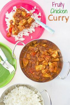 This fruity chicken curry is a perfect first curry for kids. The apples and sultanas make it deliciously sweet and appealing to children.