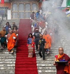 King of Bhutan marries 21-year-old student Jetsun Pema in elaborate marriage ceremony