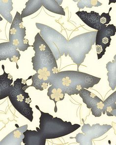 Satsuki 3 - Sublime Butterflies - Steel Gray/Gold