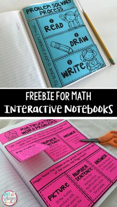 FREE math interactive notebook activities that focus on problem solving!