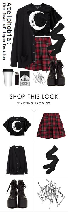 """01:05am"" by nightmare-child666 ❤ liked on Polyvore featuring H&M, Organic by John Patrick, Fogal, Monki and Sagaform"