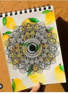 Mandala Doodle, Mandala Art Lesson, Mandala Artwork, Mandala Drawing, Mandala Painting, Doodle Art, Black Paper Drawing, Chaat Recipe, Art Drawings Sketches Simple