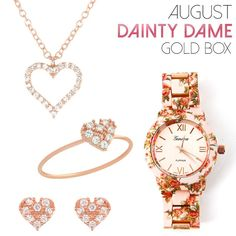 August Dainty Dame Gold Box
