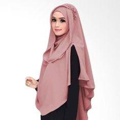 (Kus Group Hijab Oki Panjang Kerudung Syar'I - Dusty Pink) Online - Harga (Rp 150,000), Beli Produk Terbaru di Blibli.com