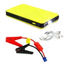 20000mAh Car Jump Starters Pack Booster Chargers Battery Power Bank Yellow Sale - Banggood.com