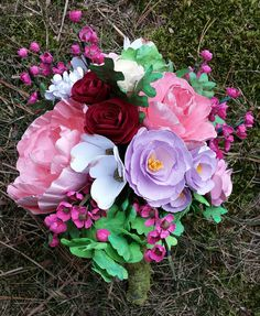 Completely Handmade Paper Bridal Bouquet. by OutsideTheStacks