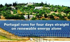 Portugal runs for four days straight on renewable energy alone - http://ift.tt/27Rv2Nu  Zero emission milestone reached as country is powered by just wind solar and hydro-generated electricity for 107 hours #awesome #solar #wind #hydro #electricity #gogreensavegreen #portugal #gosolar #renewableenergy