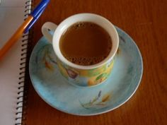 Greek coffee while working at home