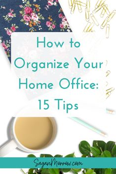 Organize your home office with these 15 tips! Learn how to deal with an unwiedly inbox, get your filing cabinet under control, and more in this guide. Diy Organisation, Business Organization, Writing Offices, Declutter, Organize, Work From Home Tips, Filing System, Home Office Design, Organizing Your Home
