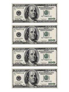 Dollar Bill Cake, 100 Dollar Bill, Dollar Bills, Fake Money Printable, Money Template, Templates, Money Cake, Money Images, Barbie