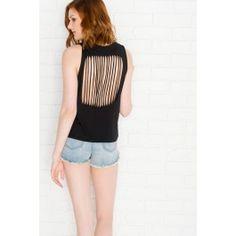 T-shirt sans manches Sunset Beach noir #ARDENEWISHLIST