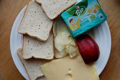 Jablečné tousty se sýrem