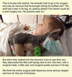 Respect the surgical staff