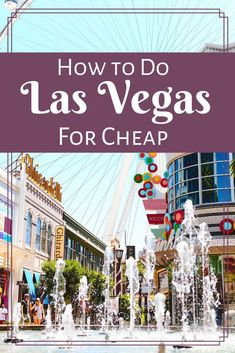 32 Essential Things to Do in Las Vegas Besides Gambling. So much more than blackjack and slot machines! Plan your trip to Las Vegas with this itinerary featuring tons of things to do besides gambling. Cheap Vegas Trip, Las Vegas Vacation, Las Vegas Cheap Eats, Vacation Ideas, Vegas Getaway, Las Vegas Travel Guide, Vegas Fun, Vacation Trips, Las Vegas Restaurants