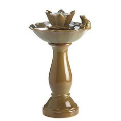 Indoor Fountains 20569: Lotus Pond Friendly Frog Tabletop Fountain -> BUY IT NOW ONLY: $129.25 on eBay!
